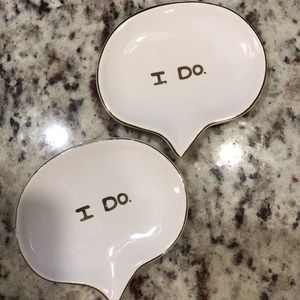 "Set of Two ""I Do"" Ring Dishes"